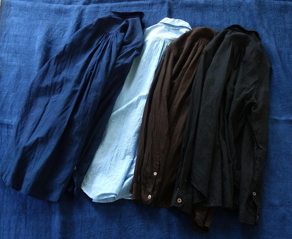 khadi shirt natural dyed