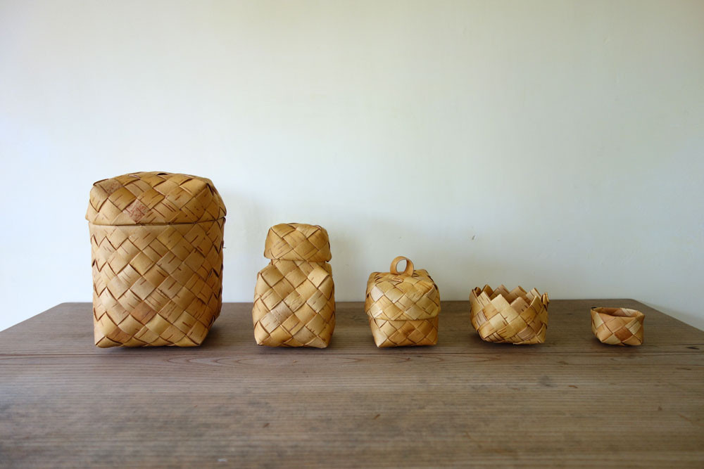 白樺 birch basket