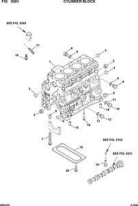 запчасти двигатель комацу