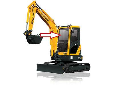 Стекло для мини экскаватора Hyundai R35Z-9 | Стекло для мини экскаватора Hyundai R27Z-9 | стекло лобовое верхнее