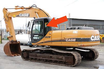 Стекло для гусеничных экскаваторов CASE CX210 B | Стекло кузовноелевое | Стекло кузовное| CASE CX210B | CASE | КЕЙЗ