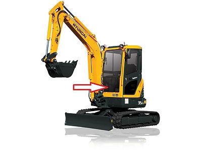 Стекло для мини экскаватора Hyundai R35Z-9 | Стекло для мини экскаватора Hyundai R27Z-9 | стекло лобовое нижнее