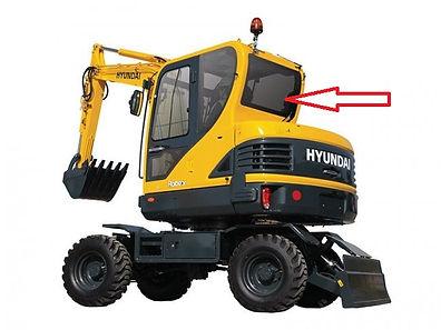 Стекло заднее для мини экскаватора Hyundai Robex 60w-9s | стекло лобовое