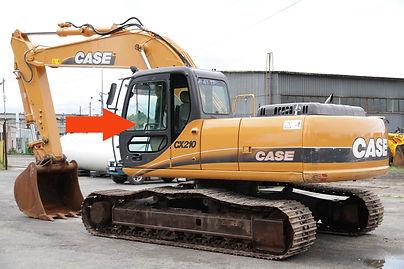 Стекло для гусеничных экскаваторов CASE CX210B | Стекло дверное верхнеелевое | Стекло дверное верхнее| CASE CX210B | CASE | КЕЙЗ