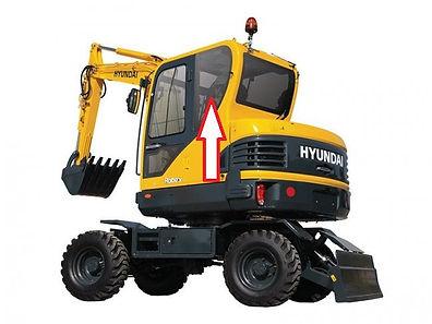 Стекло кузовное заднее левое для мини экскаватора Hyundai Robex 60w-9s | стекло лобовое