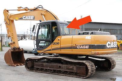 Стекло для гусеничных экскаваторов CASE CX210 B | Стекло заднее | CASE CX210 | CASE | КЕЙЗ