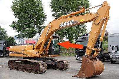 Стекло для гусеничных экскаваторов CASE CX210 B | Стекло лобовое верхнее | CASE CX210 | CASE | КЕЙЗ