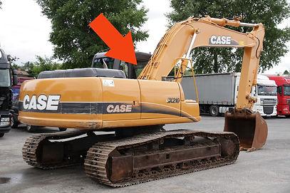 Стекло для гусеничных экскаваторов CASE CX210 B | Стекло боковое верхнее правое | CASE CX210 | CASE | КЕЙЗ