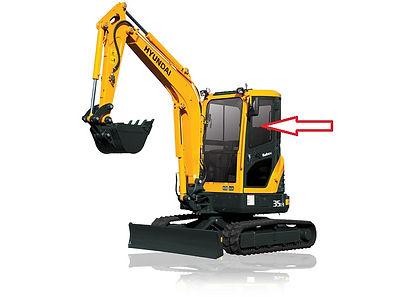 Стекло для мини экскаватора Hyundai R35Z-9 | Стекло для мини экскаватора Hyundai R27Z-9 | стекло дверное верхнее