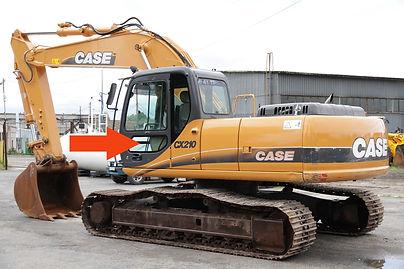 Стекло для гусеничных экскаваторов CASE CX210 B | Стекло дверное нижнеелевое | Стекло дверное нижнее| CASE CX210B | CASE | КЕЙЗ