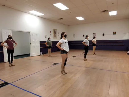 Intermediate dancerinas kick line.