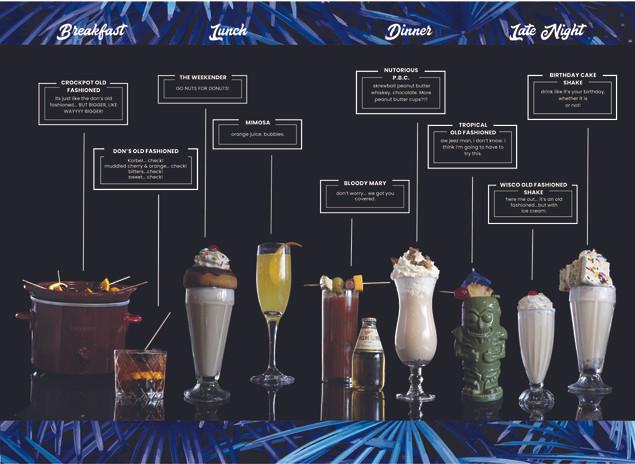 Don's Cocktail Menu Inside