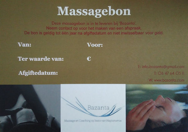 Massagebon, cadeubon, Amersfoort, Massage, olie