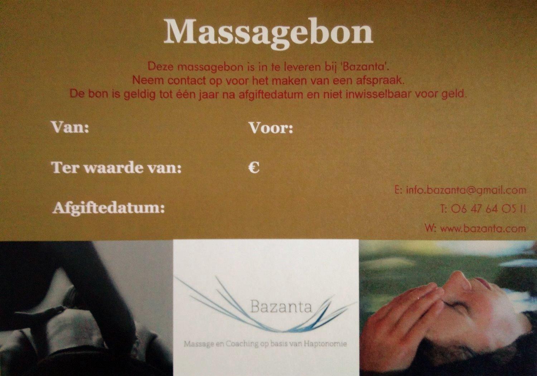 Massagebon / Cadeaubon