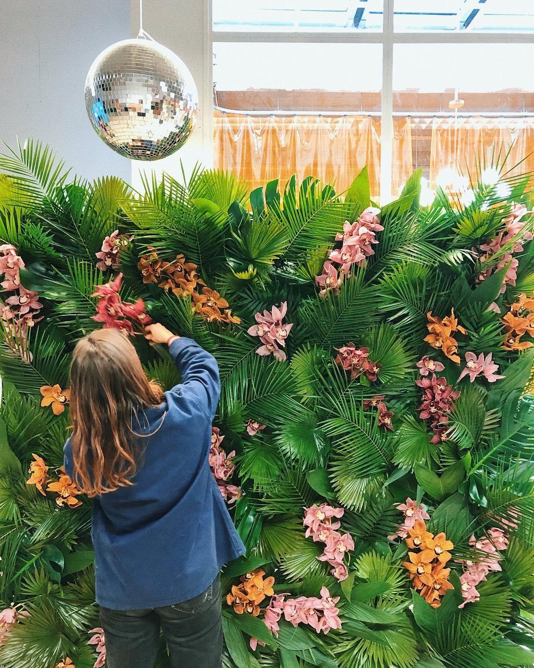 Fond floral Pampa Maison du Monde
