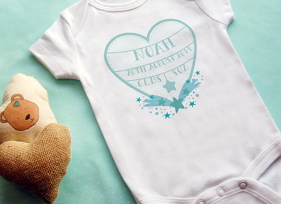 Personalised Shooting Star Announcement Vest