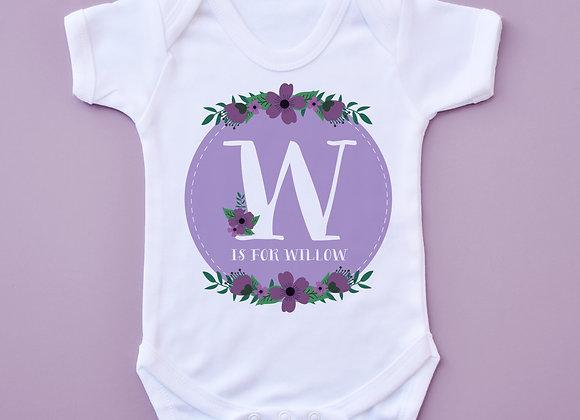 Purple Floral Letter Vest