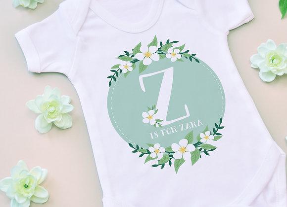 Green Floral Letter Vest