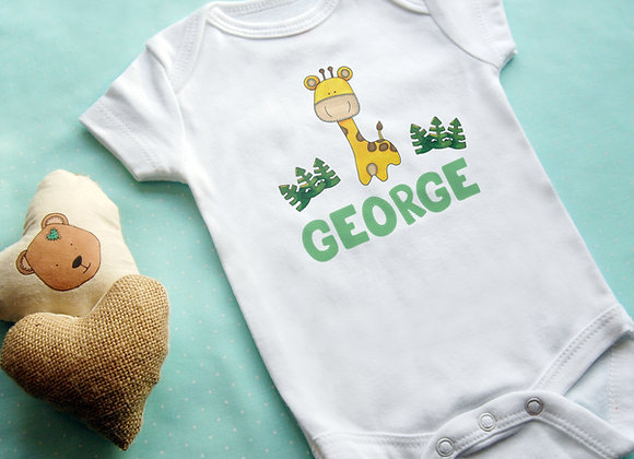 Cute Giraffe + Name