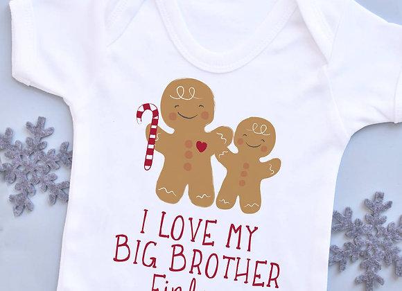 Personalised Gingerbread Sibling Vest