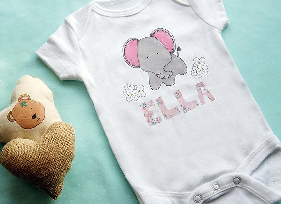 Cute Elephant + Name