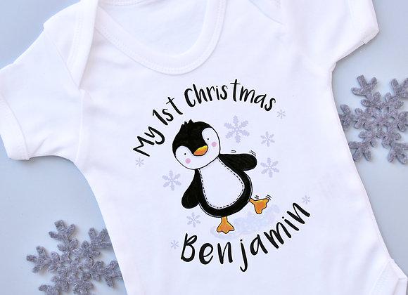 Penguin 1st Christmas Vest