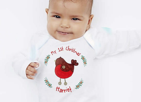 Personalised 'My 1st Christmas' Robin