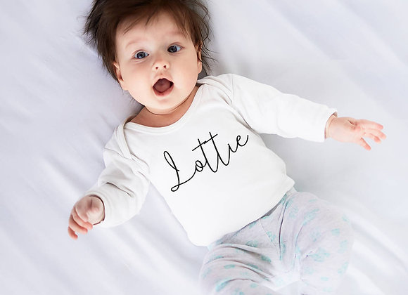 Baby Name Script Vest