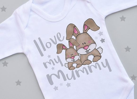 I Love My Mummy Bunny Vest