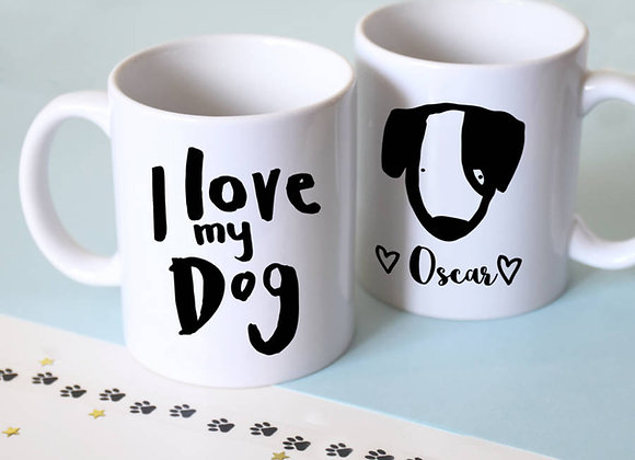 Personalised I Love My Dog Mug