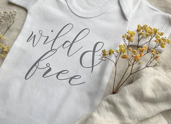 Wild And Free Baby Vest