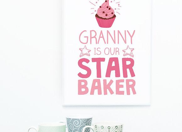 Our Star Baker Print