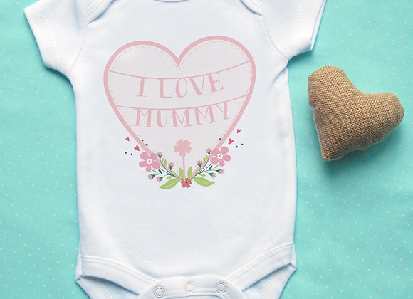 Personalised 'I Love ...' Pink Heart Vest