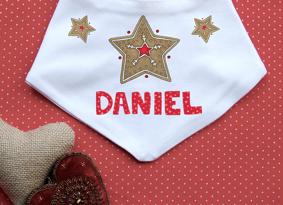 Personalised Gingerbread Star Bib