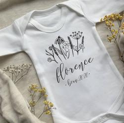 Wildflower newborn baby girl clothing