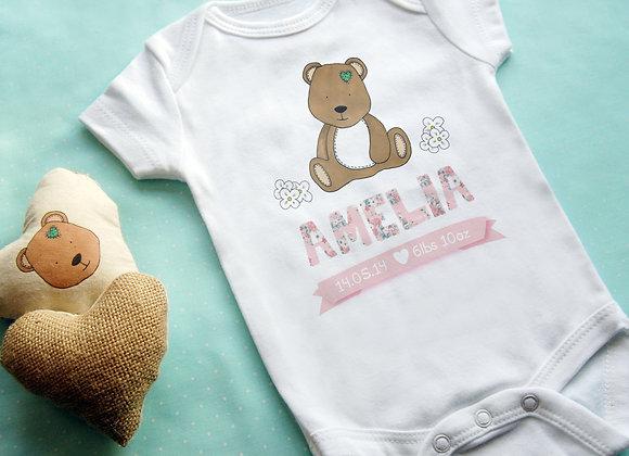 Personalised Bear Baby Vest