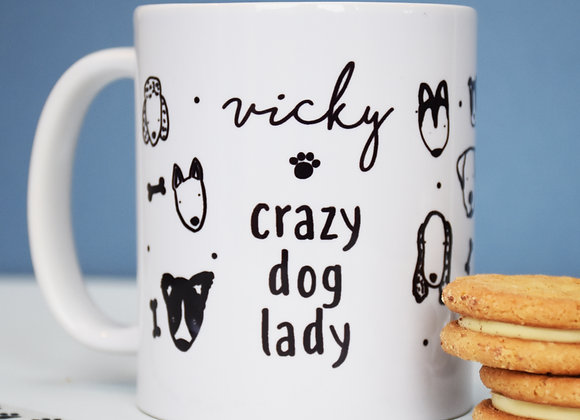 Crazy Dog Lady Personalised Mug