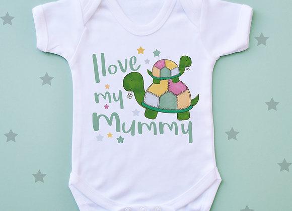I Love My Mummy Tortoise Vest