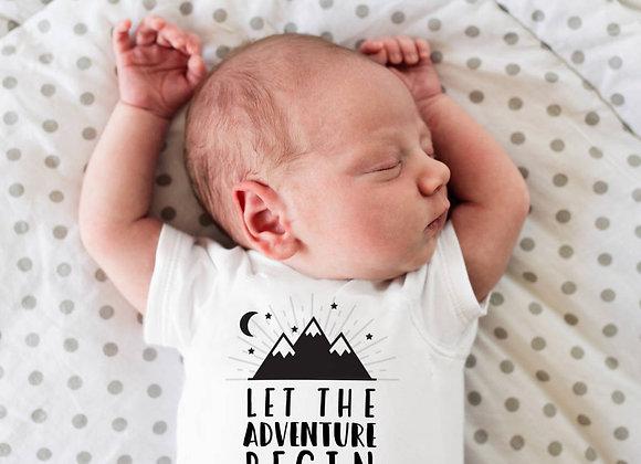 Let The Adventure Begin Personalised Baby Vest
