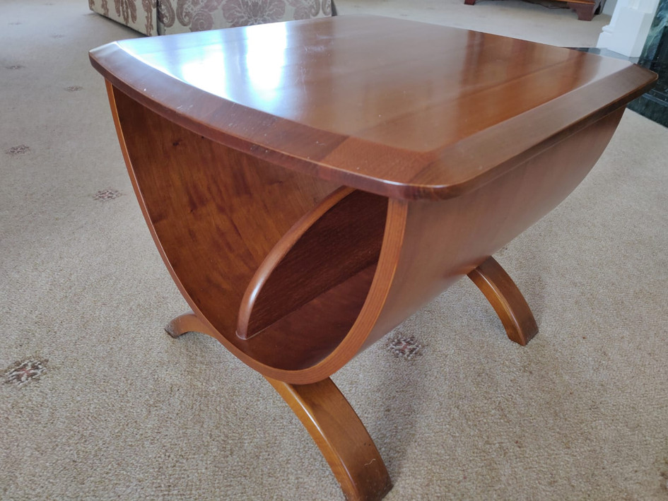Solid Cherry Table/Magazine Rack NOW £250