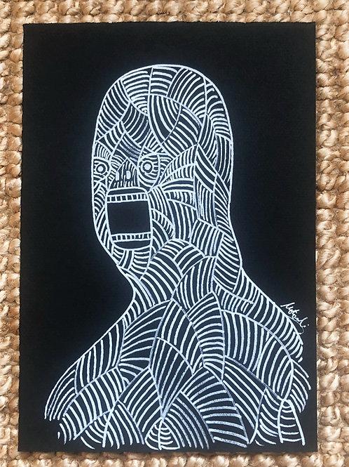 White drawing - Skinless