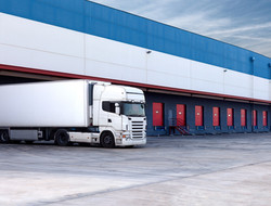 Truck at warehouse / distribution centre