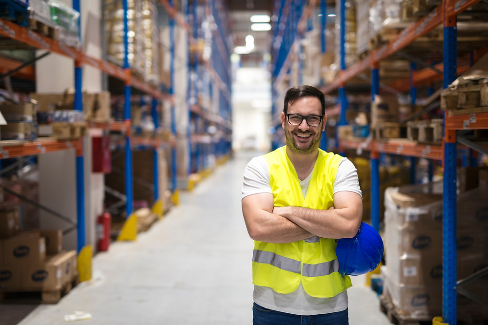 Warehouse worker at 3PL Warehouse in Sydney South, NSW, Australia