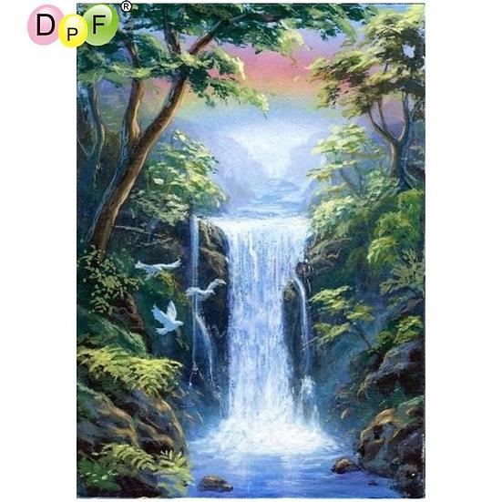 Waterfall ,5D Diamond Painting Kit