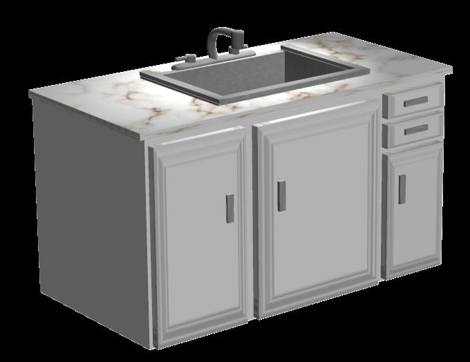 Kitchen Sink with Textures