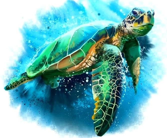 Sea Turtle, Diamond Painting, Full Square/Round Drill Kit
