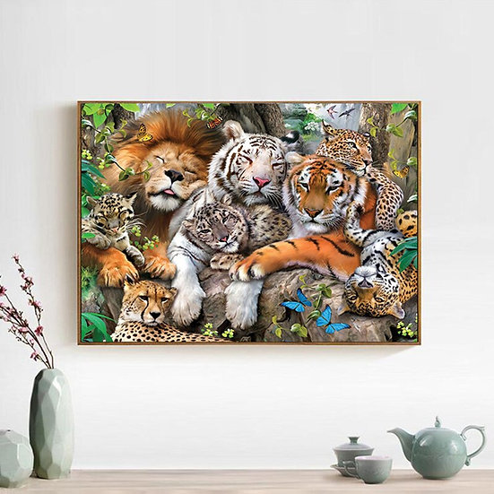 Big Cats,Square/Round,  Diamond Painting