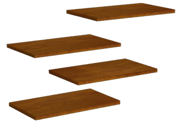 Floating Shelves, Textures Included!