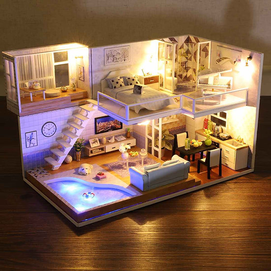 DIY Wooden Miniature Dollhouse