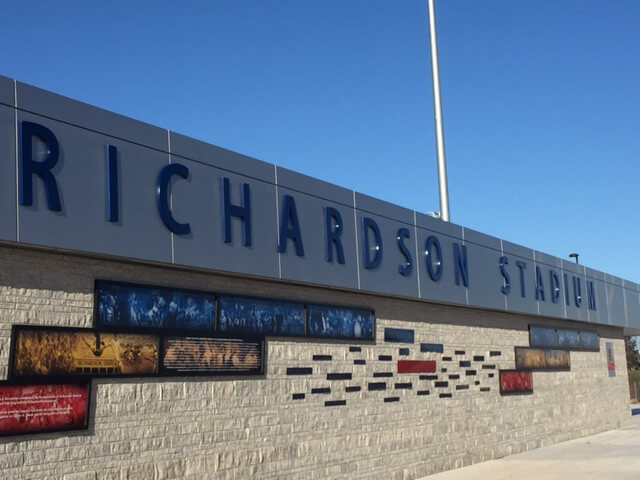Richardson Stadium Commercial Garage Door